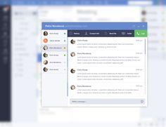 Email Client UI by Jakub Antalik Flat Web Design, Ui Design, Design Trends, Design Ideas, Email Client, Flat Ui, Image Icon, Ui Elements, Email Templates