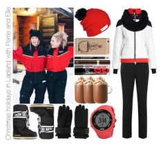 """""""Christmas holidays in Lapland with Perrie and Ellie"""" by michaelssmile ❤ liked on Polyvore featuring GET LOST, Topshop, Toni Sailer, Moon Boot, Dsquared2, Flylow, Samsung, The Body Shop, Tom Ford and Maybelline"""