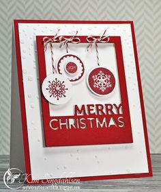 Snow and Ornaments from Joyful Creations with Kim using products from Simon Says Stamp.