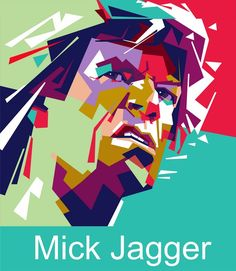 Sir Michael Philip Jagger (born 26 July is an English singer, songwriter, actor, and film producer who gained worldwide fame as the lead singer and one of the founder members of the Rolling Stones. Rolling Stones Logo, Pop Art Artists, Pop Art Portraits, Popular Art, Bike Parts, Mick Jagger, Fashion Art, Musicians, Actors