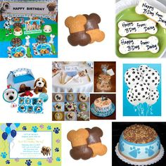Fun Scooby Doo party ideas! I really love the pawprint balloons and the dog bowl cake!