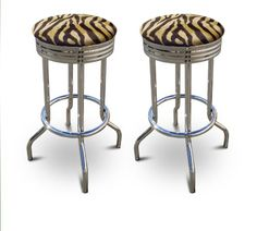 Special Offers - 2 Brown Zebra Faux Fur Animal Print Specialty / Custom Barstools Set - In stock & Free Shipping. You can save more money! Check It (April 15 2016 at 06:15PM) >> http://counterstoolsusa.net/2-brown-zebra-faux-fur-animal-print-specialty-custom-barstools-set/