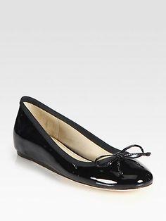 10022-SHOE Saks Fifth Avenue - Loralei Patent Leather Ballet Flats 0de5157b6