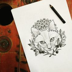 2017 trend Geometric Tattoo - nice Geometric Tattoo - Miss Sita Tattoo Instagram MissSita :) Cat illustration ...