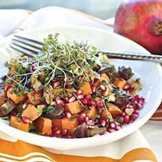 Pomegranate-sweet potato salad