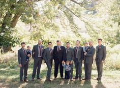 gray groomsmen suit ideas, gingham groomsmen attire, rustic wedding inspiration  from elegant barn wedding at Riverside on the Potomac  | Audra Wrisley Photography