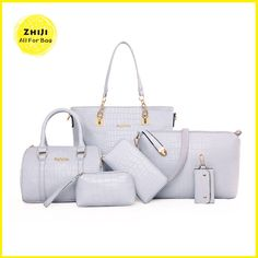 870fd86ae21d jiani® Single Shoulder Bag Handbag Oblique Cross Cutting Crocodile Lash  Packages In Six Piece Suit (light gray)
