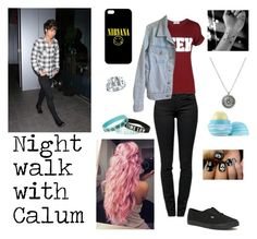 """""""A date night with Calum Hood"""" by gabbycastronovo ❤ liked on Polyvore featuring Proenza Schouler, American Apparel, Vans, Eos and Alexander McQueen"""