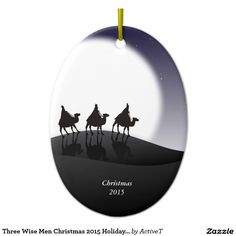 Three Wise Men Christmas 2015 Holiday Ornament