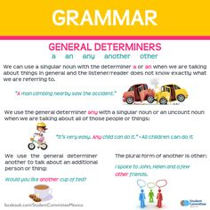 General determiners: a - an - any - another - other