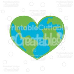 Earth Day Heart SVG Cut Files & Clipart - Scrapbook cut files for your Silhouette or Cricut cutting machines! Commercial Use included! Printablecuttable... #scrapbooking #cardmaking #papercraft #vinylideas #vinylcrafts #cutfiles #cutfilessvg #cuttingfiles #svgfiles #scrapbookcutting #earthday #planet