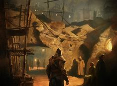 Gilles Beloeil's concept artwork for Assassin's Creed: Revelations