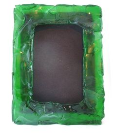Recycled green glass bottle slumped into picture frame by keiglass, $25.00