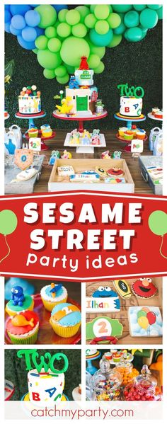 Check out this fun rustic Sesame Street 2nd birthday party. The mix of cookies are so cute!! See more party ideas and share yours at CatchMyParty.com
