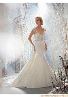 Sexy traje de novia de encaje y gasa 2014