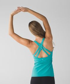We heart this strappy-back, scoop-neck tank that's designed to hold you in place during your practice.