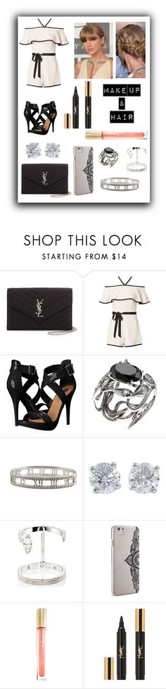 """Formal Romper"" by afternoonteaa ❤ liked on Polyvore featuring Yves Saint Laurent, Intermix, Michael Antonio, Tiffany & Co., J. Mendel, Repossi, Nanette Lepore, Max Factor, taylorswift and formal"