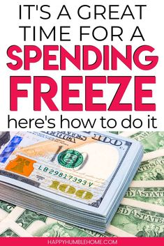 Apr 12, 2020 - How to do a Spending Freeze - Everything you need to know to be successful with your first spending freeze so you can save a lot of money fast!