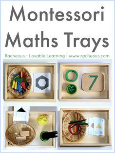Montessori Maths Trays  Racheous - Lovable Learning