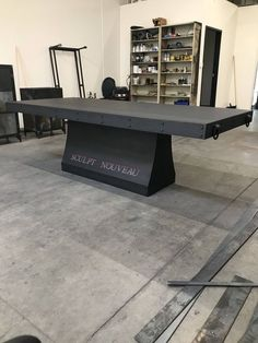 Medieval conference table, industrial steel table by RusticSantaFe on Etsy https://www.etsy.com/listing/577100514/medieval-conference-table-industrial