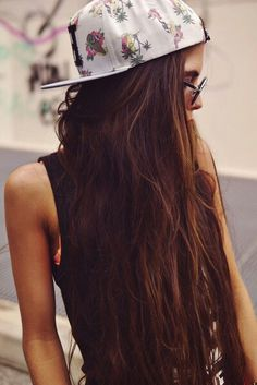 Hair cap girl and hipster, this alternative girl is awesome hahaha