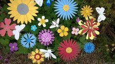 Flowers Sculptures for your garden, sculpture exhibition at Doddington Hall, Lincolnshire.