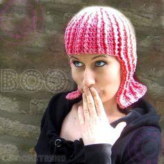 Funny Pink Wig Crochet Pattern $4.99