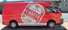 Vehicle branding done for Castle Lager