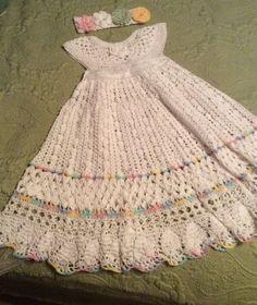 Crochet-Christening-Gown-Pattern-For-Yoked-Interchangeable-Flower-Christening-Go