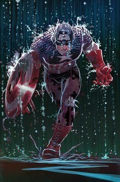 johnromitajr:    Cap! by John Romita Jr. for Marvel Comics