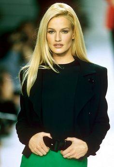 Karen Mulder for YSL S/S 1996