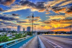 Singer Island from the top of the Blue Heron Bridge Florida Captain Kimo #HDR #HDRPhotography