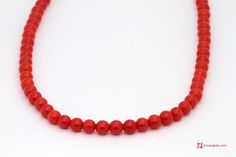 Extra Red Coral Necklace Dark Color round 3½mm in Gold 18K Collana Corallo rosso Extra Dark Color pallini 3½mm in Oro 18K http://www.maxgioie.com/shop/extra-red-coral-necklace-dark-color-round-3%C2%BDmm-in-gold-18k