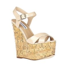 SteveMadden Bouncerr wedges SZ8 in box. Still in the box. Only worn once! Look completely brand new and true to size. Steve Madden Shoes Wedges