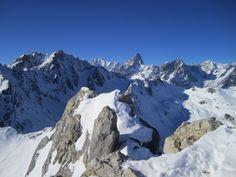 Mont Blanc et Grandes Jorasses vus depuis le Mont Fourchon
