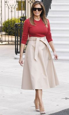 Jw Moda, Milania Trump Style, Modest Fashion, Fashion Dresses, First Lady Melania Trump, Mode Outfits, Classy Outfits, Celebrity Style, Style Inspiration