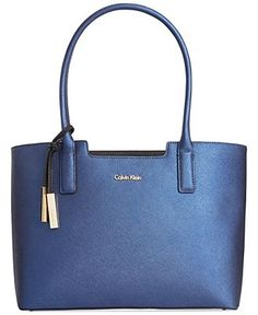 Calvin Klein Saffiano Leather Tote - Tote Bags - Handbags & Accessories - Macy's
