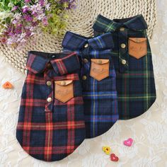 Warm Pet Dog Clothes for Small Dogs Clothing Plaid Winter Dog Coats Jacket Pet Chihuahua Clothes Boy Dog Clothes, Large Dog Clothes, Chihuahua Clothes, Dog Clothing, Puppy Coats, Dog Winter Coat, Winter Coats, Dog Clothes Patterns, Dog Jacket