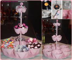 DIY candy stand from recycled bottles to display sweets or snacks for a party table or special occasion , wonderful!(y) Check insturctions --> http://wonderfuldiy.com/wonderful-diy-candy-stand-out-of-recycled-bottles/