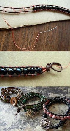 one of these days try and make these bracelets... 9 Effortless To Make DIY Boho Accessories | Pinkous