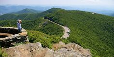 Love the hike at Craggy Gardens on the Blue Ridge Parkway near Asheville. You can see FOREVER from the top!