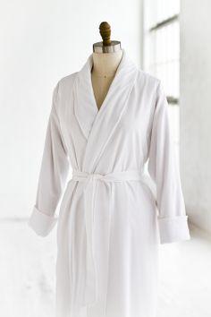 Terry  amp  Seersucker Spa Robe White  Luxury  Spa  Robe  Plush   4c71de63a