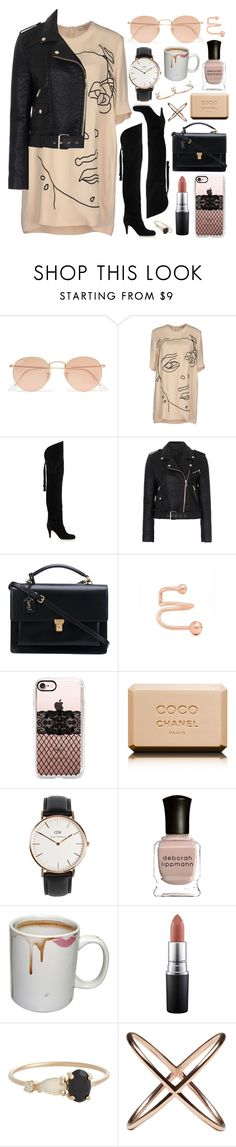 """""""Untitled #628"""" by clary94 ❤ liked on Polyvore featuring Ray-Ban, STELLA McCARTNEY, Chloé, French Connection, Yves Saint Laurent, Maria Black, Casetify, Chanel, Daniel Wellington and Deborah Lippmann"""