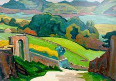 'Dirk' Herman Willem Filarski (Amsterdam 1885-1964 Zeist) Zwitsers landschap bij Busier - Kunsthandel Simonis en Buunk, Ede (Nederland).
