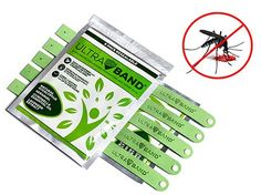 Ultra Band - All Natural Mosquito Repellent Bracelets - 5 Pack - Efficient Against Mosquito and other 150 Bugs(Green)