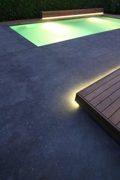 Fabulous outdoor lighting for the pool area.