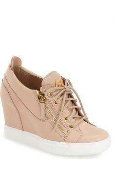 GIUSEPPE ZANOTTI Hidden Wedge Sneaker (Women). #giuseppezanotti #shoes #