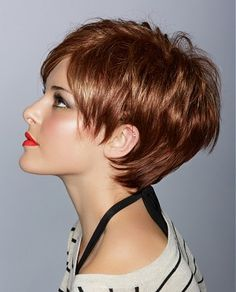 #ukhairdressers - short copper straight hair styles one of our most popular hairstyles - fabulous copper tones and stunning cut Visit www.ukhairdressers.com for loads of styles  IF I can go this short, it would be a great summer cut.