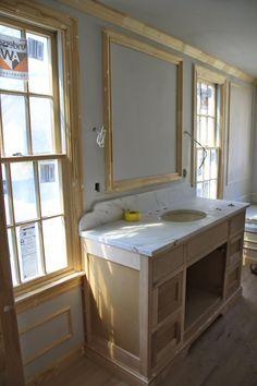 Home Renovation Tips: Enhancing The Floor Tiles Makes Huge Difference – Home Dcorz Lake House Bathroom, Master Bedroom Bathroom, Bathroom Windows, 1920s Bathroom, Bathroom Vanities, Home Renovation, Home Remodeling, Vanity Backsplash, Stone Bath