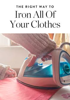 Successful ironing is a surprisingly tricky business. Fear not, we've got a handy dandy guide for every type of fabric. Black Master Bedroom, How To Store Potatoes, Home Organisation, Organization, Organizing Tips, Old Wooden Boxes, Farmhouse Side Table, How To Iron Clothes, Cleaning Solutions